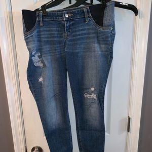 Isabel @ Target destroyed crop Maternity jeans